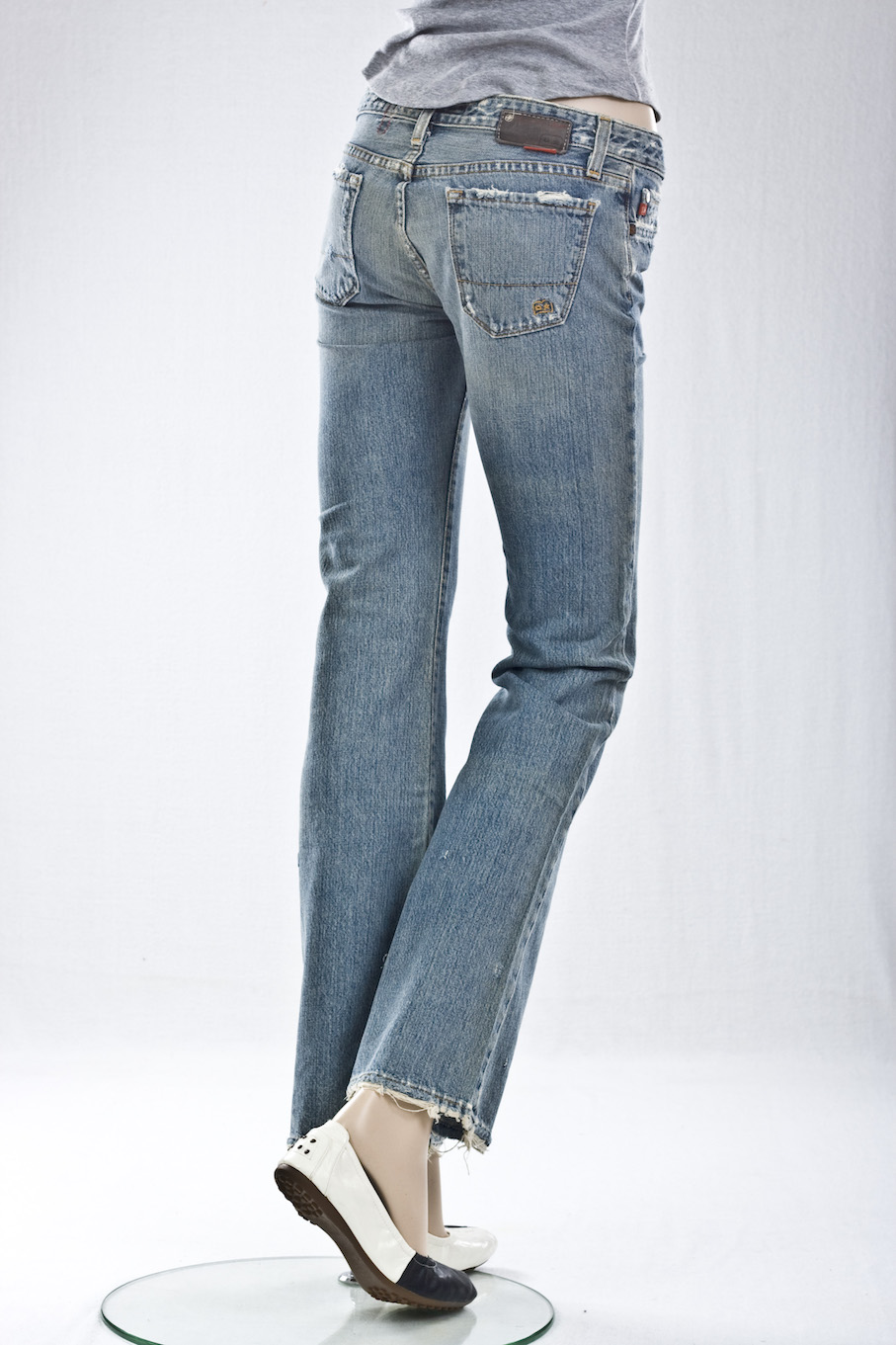 """винтажные"" BOOT CUT DISTRESSED"
