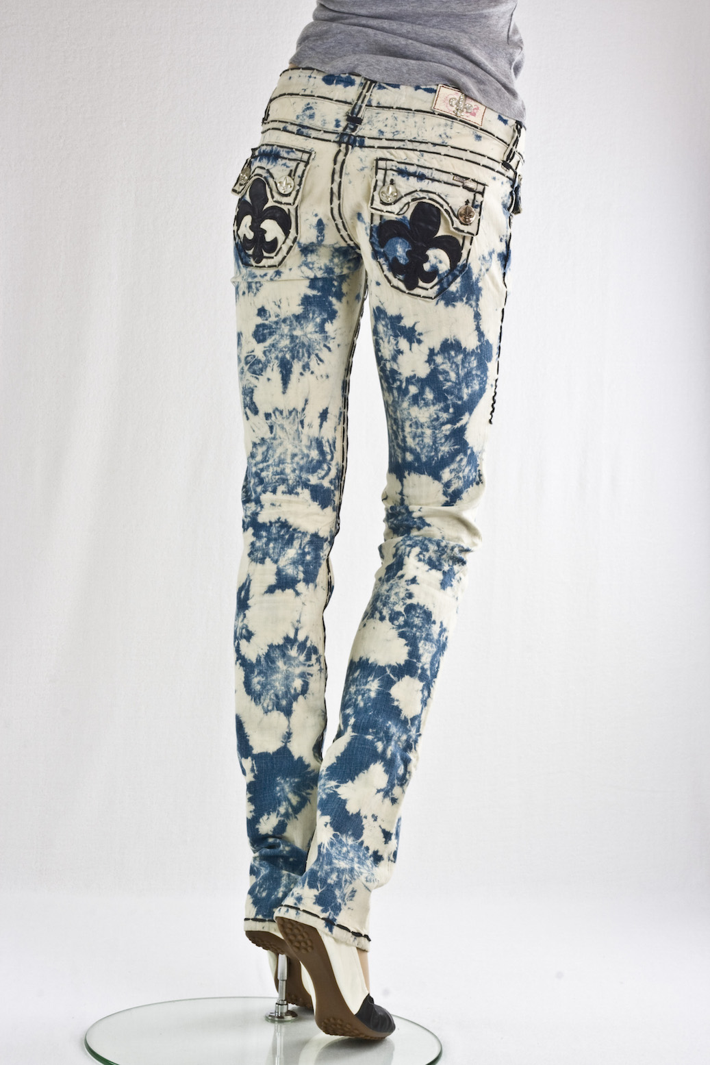 """Скини"" Hermosa Beach Burn Out Denim Light"