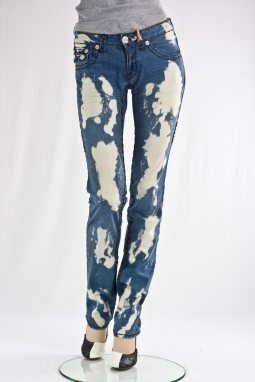 """Скини"" Hermosa Beach Medium Blue Burn Out Denim"