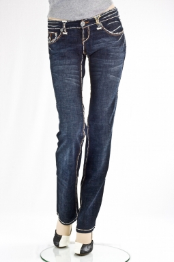 прямые White Stitch Straight Leg Denim