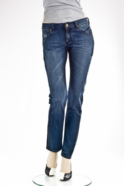 """Скини"" MORGAN SKINNY JEANS dark blue"