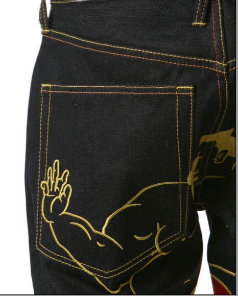 WALKING SUMO EMBROIDERED JEANS